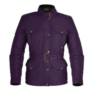Oxford Bradwell Women's British Millerain Waxed Textile Motorcycle Jacket Violet